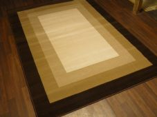 Modern Approx 8x5ft 160cmx230cm Woven Backed Squares Top Quality Rug Brown/Beige